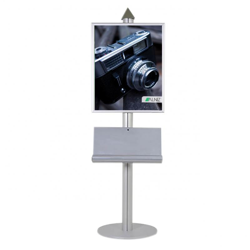 SINGLE SIDED POSTER STAND PYRAMID