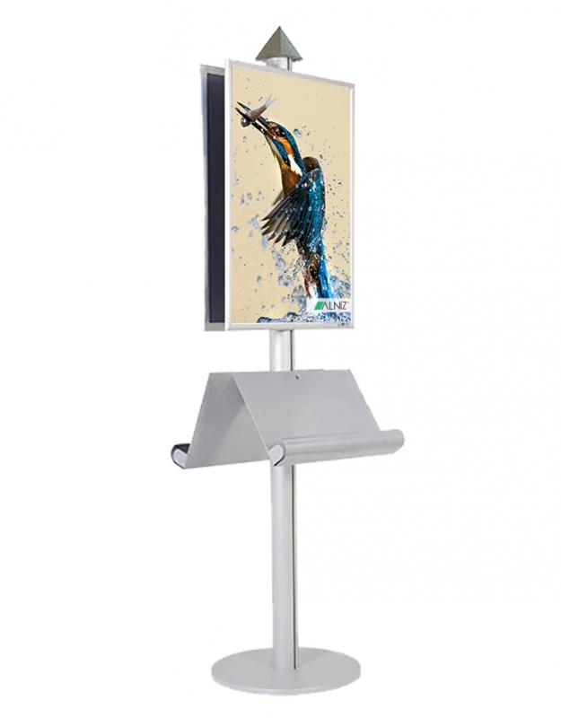 DOUBLE SIDED POSTER STAND PYRAMID